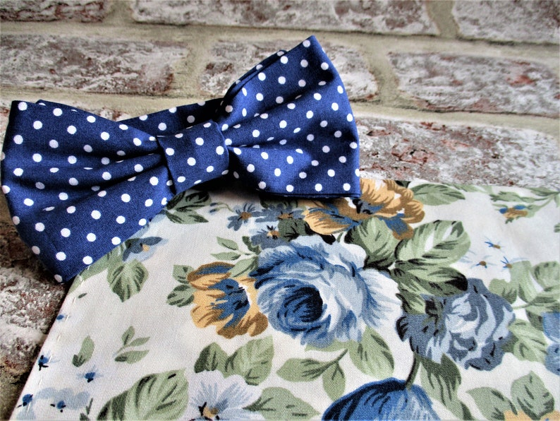 Handmade bow tie and pocket square  prom wedding atire gift image 0