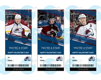 Customized Goalie Hockey Valentine Cards