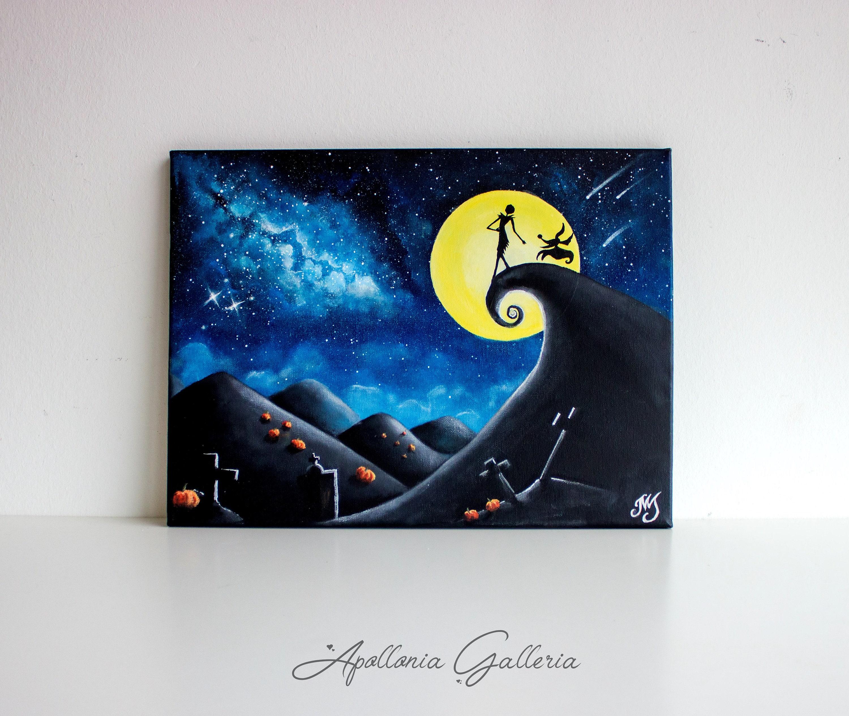Alptraum vor Weihnachten-Acryl-Malerei Disney-Acryl-Malerei. | Etsy