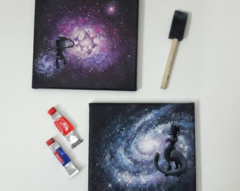 Mew and Mewtwo : Galaxy collection, Pokemon painting