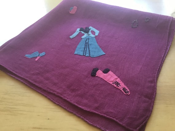 Vintage Handkerchief Set / 1930s Fashion / Hand A… - image 5