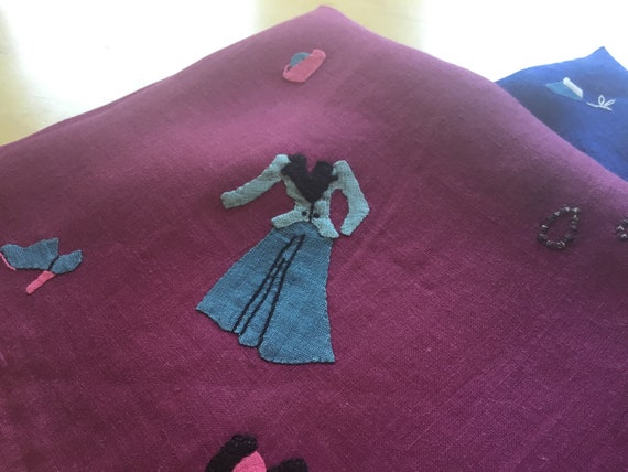 Vintage Handkerchief Set / 1930s Fashion / Hand A… - image 8