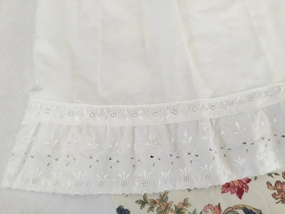 Vintage White Eyelet Petticoat