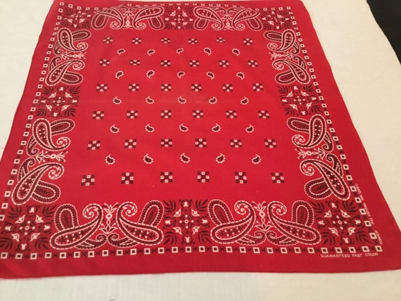 Vintage Turkey Red Bandana / Tower with Paisley an