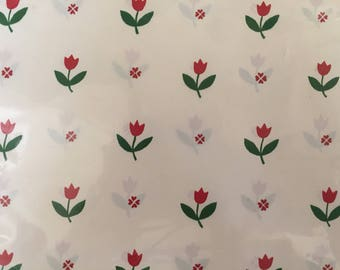 "Vintage Wrapping Paper / ""Tulips"""