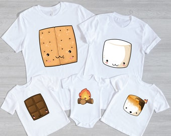 S'mores Halloween Costume Shirt | Coordinating Family and Friend Smores Group Shirts | Matching S'more costume t-shirts for groups