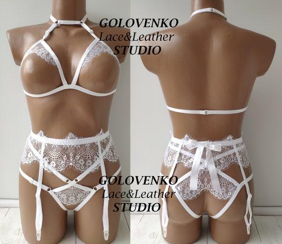 3110a3fa903 Erotic bridal lingerie with garter belt open wedding lingerie