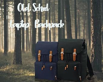 Valentine's gift hipster vintage backpack laptop forest wateresistant