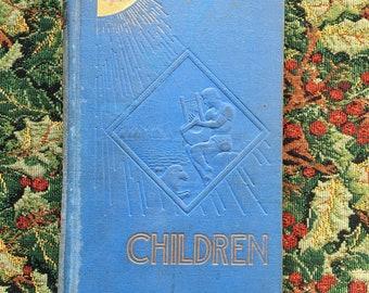 Children (1941) - Handsewn Repurposed Vintage Hardcover Journal / Children's Scrapbook