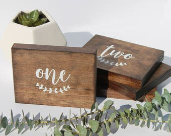 Wedding Wood Table Numbers | Wedding Table Numbers | Wooden Table Numers | Custom Wood Table Numbers | Wood Sign | Wedding Centerpiece