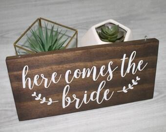Here Comes the Bride Sign | Here comes the Bride | Wedding Sign | Custom Wedding Sign |  Flower Girl Sign | Ring Bearer Sign | Wood sign