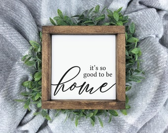 Its good to be home Signs 4MenAndALadyCrafts Grey plaid. Gifts Housewarming gifts.Farmhouse style Its so good to be home sign Home