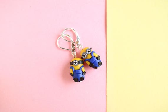 Orecchini Minion Cattivissimo Me Minion Fan Art Minion Etsy