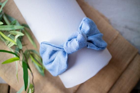 miglior prezzo per stili diversi nuovi prodotti per cerchietti azzurri righe e cotone jeans