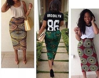 6eadb4ad27b45 Ankara Fitted Pencil Skirt