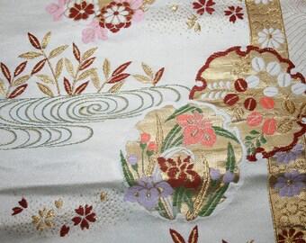 Vintage Japanese Silk Obi Fabric