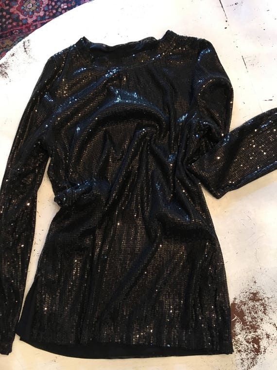Vintage Sequin Top/Tunic, Vintage Clothing, woman'