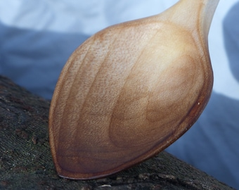 Eating Spoon, Hand-Carved Sycamore Wood - 7 Inches - Hand-Made, Sustainably Sourced