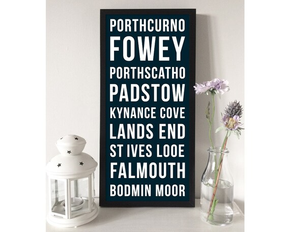 Personalised Typographic Place Names Print - Vintage