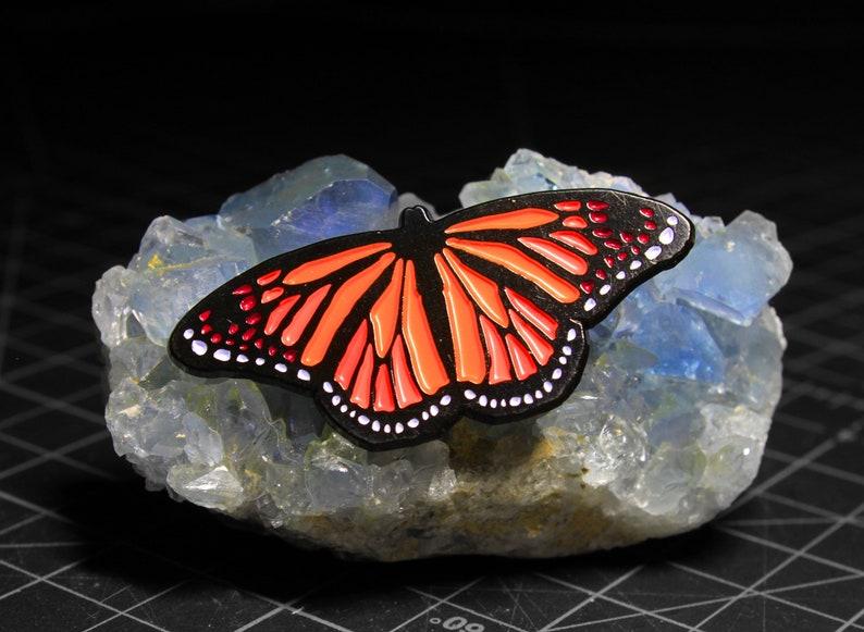 ace32d87276d6 Butterfly Enamel Pin / Monarch Butterfly Lapel Pin / Butterfly   Etsy