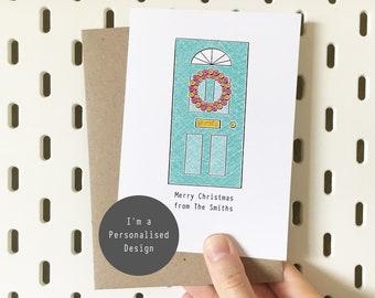 Personalised Christmas Door Card