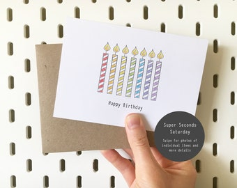 Birthday Candles Card (Seconds & Samples)