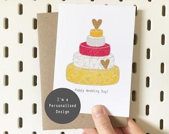 Personalised Cheese Wedding Card