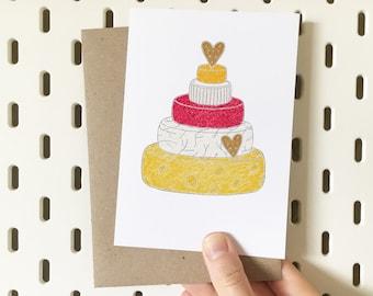 Cheese Wedding Card