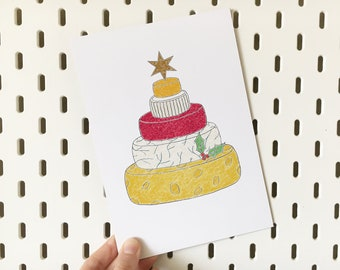 Cheese Christmas Tree Print (Charity Print)