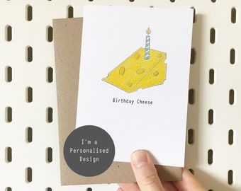 Personalised Cheese Birthday Card