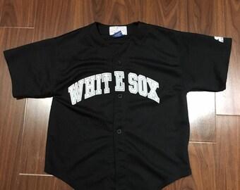 07f033217 Vintage chicago white sox starter jersey size medium