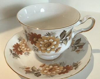 Vintage Queen Anne Tea/Coffee Cup with Saucer - 1950's