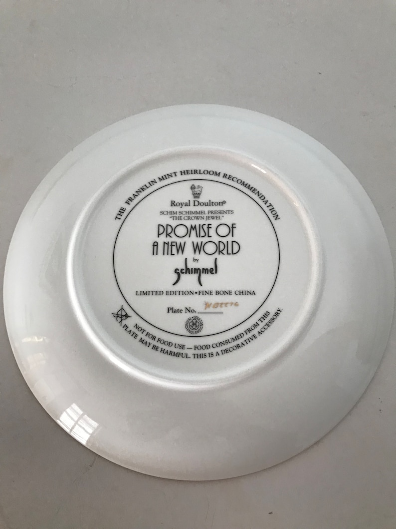 Royal Doulton Franklin Mint Promise of a New World by Schimmel
