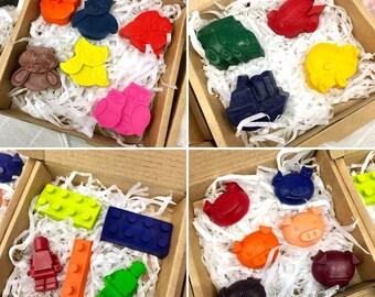 Handmade Crayons in fun shapes
