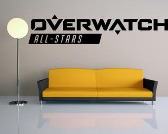 Overwatch junkrat Autocollant Vinyle Mur//Fenêtre Autocollant