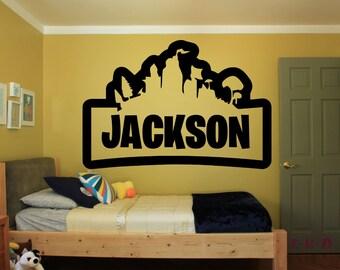 Fortnite Kids Room Etsy - personalized name vinyl decal sticker game room kids room wall art nursery vinyl lettering child bedroom fn172