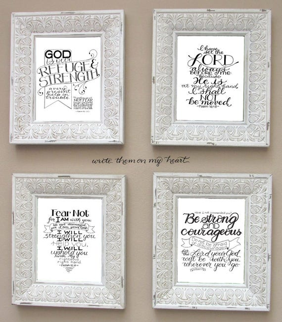 Courage scripture memory verse cards and wall art printables etsy image 0 m4hsunfo