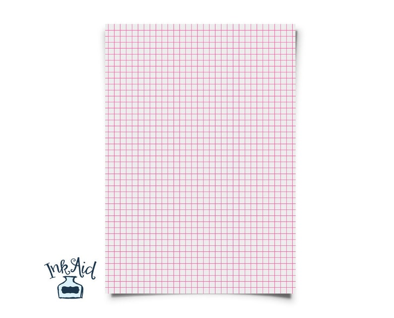 Print Your Own Colored Grid Graph Paper 1 4 Inch Squares Etsy