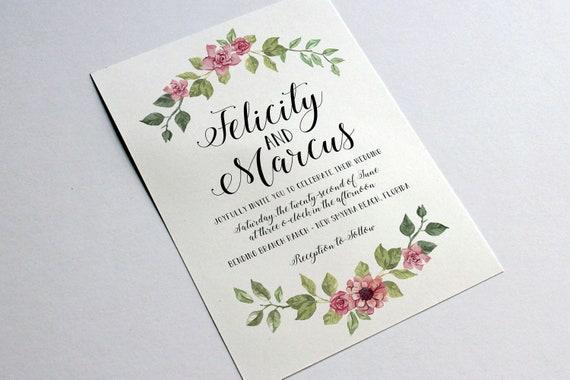 Hochzeit vorlage word einladung Drucke selbst!