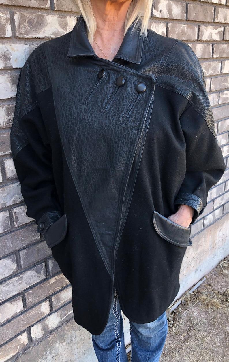 ed426461135c David Benjamin Coat Size 13 Pure New Wool and Genuine Leather