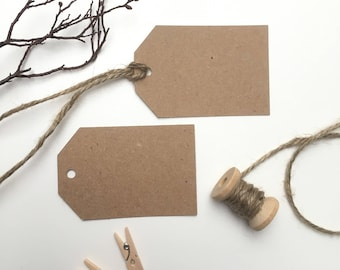 10 x Blank Kraft Tags | Wedding Tags | Rustic Tags | Gift Tags