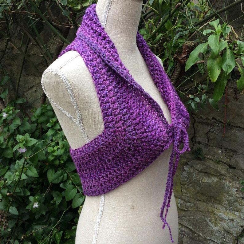 Hand Crochet Mandala Pixie Vest Waistcoat Uk 8-12