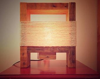 retro wooden palette mood lamp