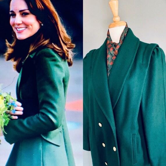 80s coat/ Vintage womens wool coats/ 1980s coat/80