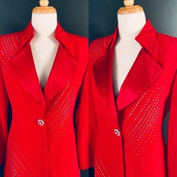 Vintage jacket 80s coat 80s power suit 80s jacket