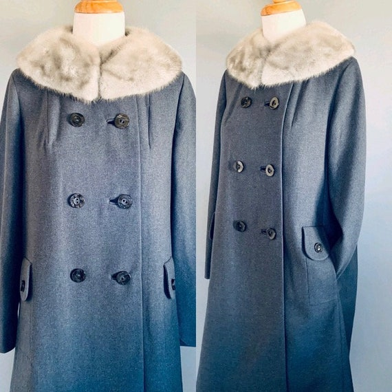 50s coat Vintage coat 50's coat  Princess coat 195