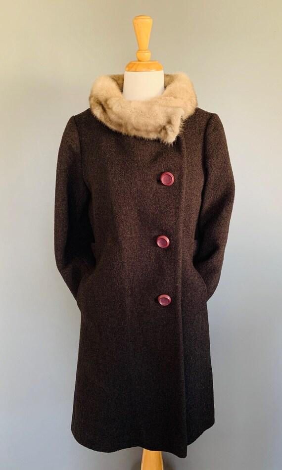 1960s Coat/ Vintage coats women/60's coat/1960's … - image 8