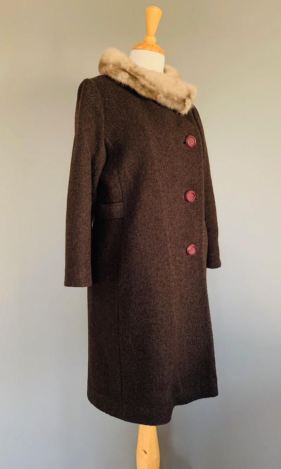 1960s Coat/ Vintage coats women/60's coat/1960's … - image 3