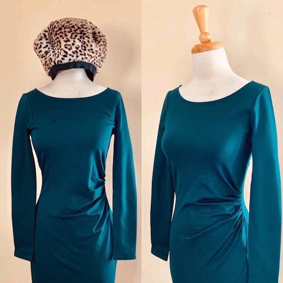 Vintage Dress Y2K Bodycon dress Green dress Mini B