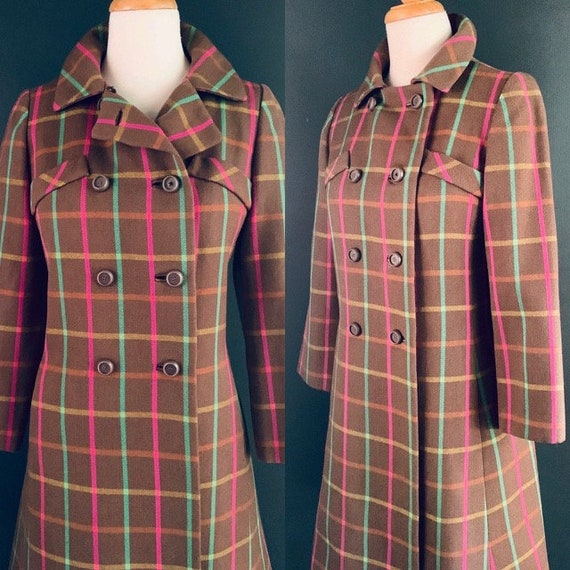 Vintage coat  60s coat Princess coat 60's coat Fit